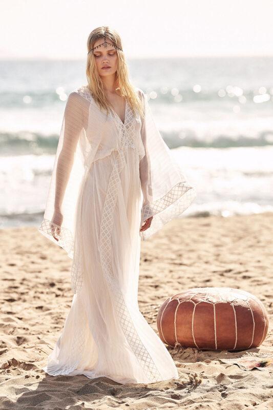 Celia Dragouni Aetherial Mettalic kimono dress