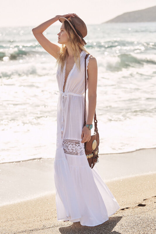Celia Dragouni Buttoned down white dress