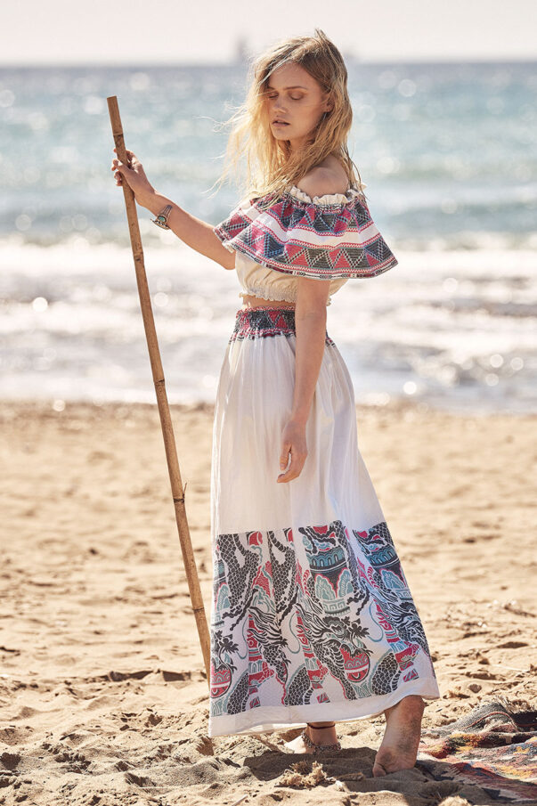 Celia Dragouni Hippie Dragon long skirt