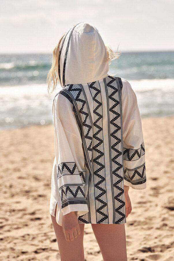 Celia Dragouni Hooded Shirt