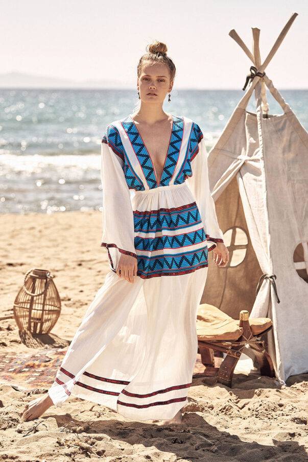 Celia Dragouni Mexican Beauty -long kaftan dress