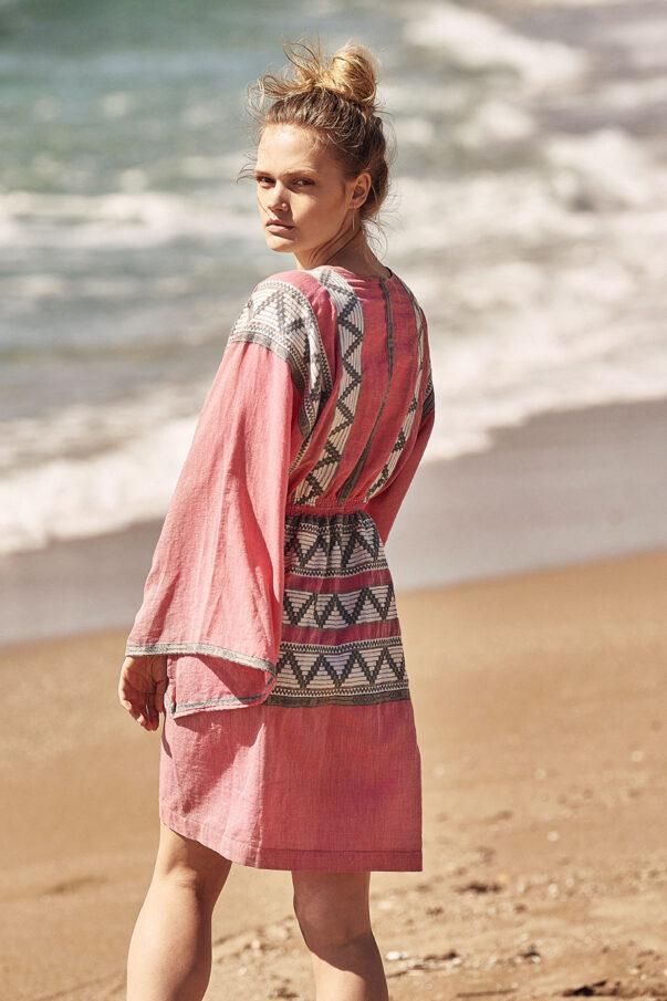 Celia Dragouni Mexican Mini Beauty Kaftan Dress