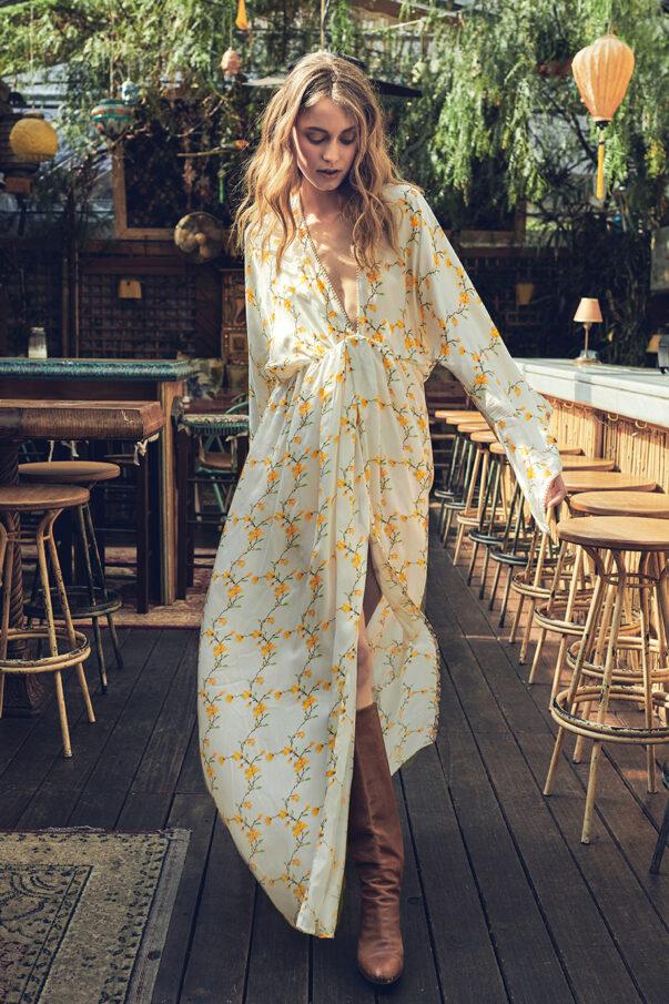 Celia Dragouni Chinese Garden Kimono Dress