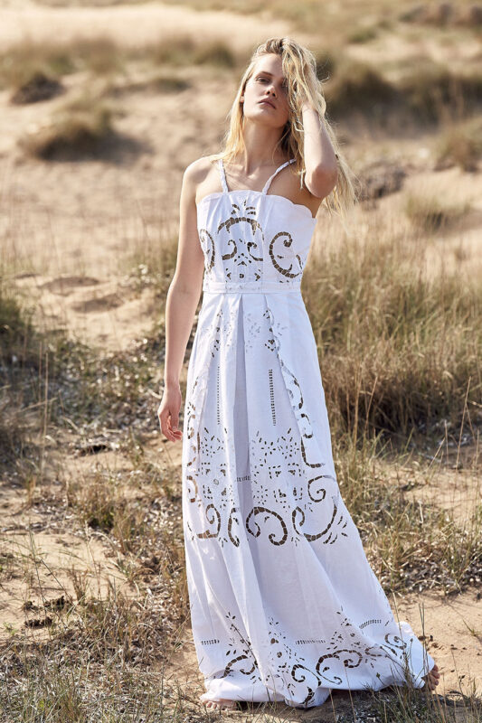 Celia Dragouni White Valley Bridal Dress
