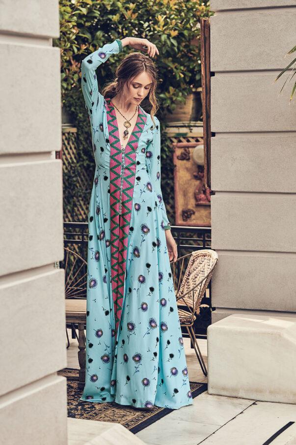 Celia Dragouni Blue Dandelion Dress
