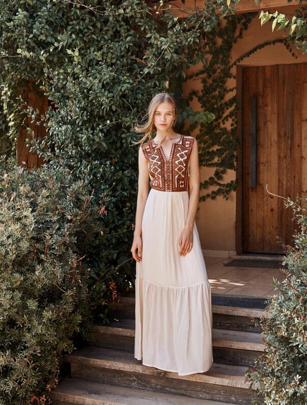 Celia Dragouni Ethnic Love Long Tassel Dress