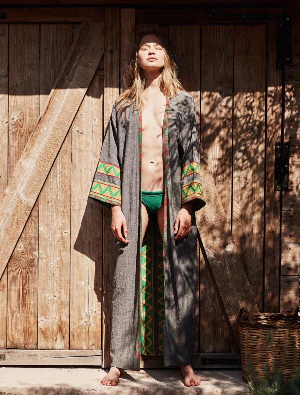 Celia Dragouni The Green Kimono Robe