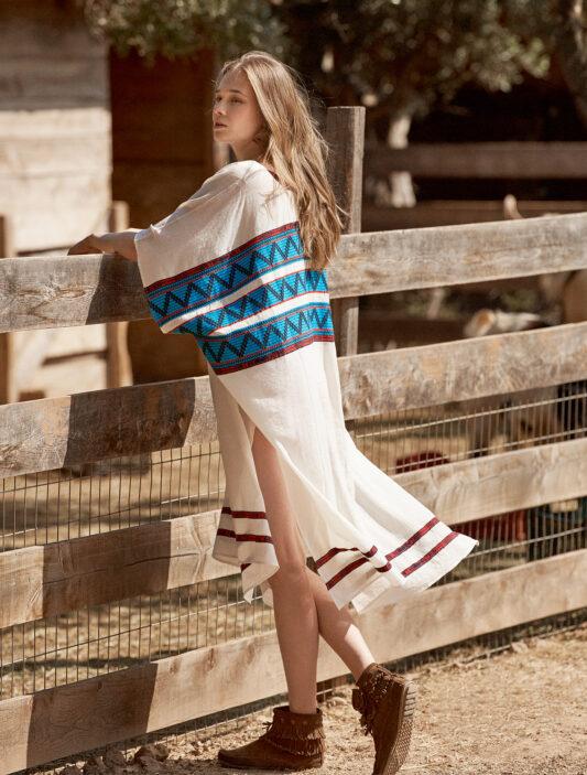 Celia Dragouni The Turquoise Poncho Mexicana