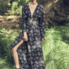 Celia Dragouni Black Flower kimono dress