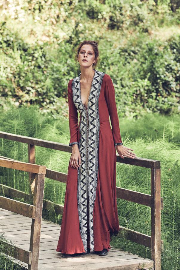 Celia Dragouni Red Swan dress