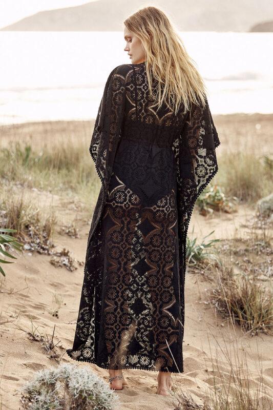 Celia Dragouni Cotton Star Long Kaftan Dress