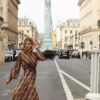 Celia Dragouni 70's beauty dress