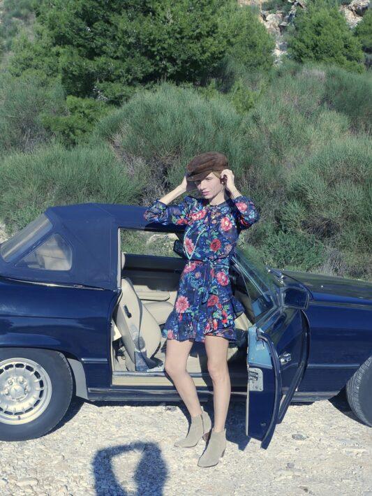 Celia Dragouni The Blue Floral Wrap Dress