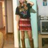 Celia Dragouni Red sequin Skirt