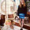 Celia Dragouni Blue Sequin Skirt