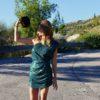 Celia Dragouni The Green One Shoulder Glam