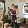 Celia Dragouni Floral Velvet dress