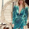 Celia Dragouni The Green Velvet Dress