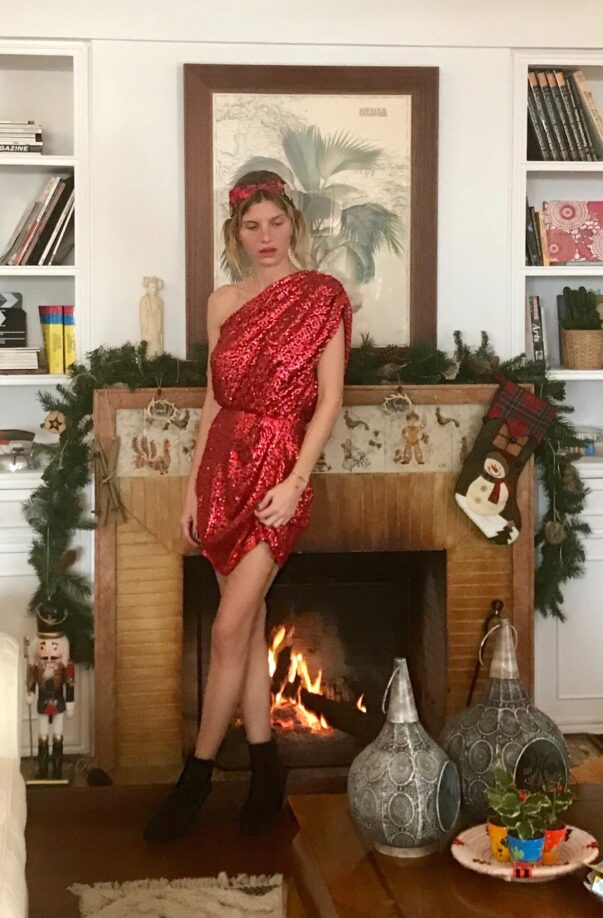 Celia Dragouni The Red One Shoulder Glam