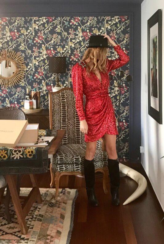 Celia Dragouni The Red Star Dress