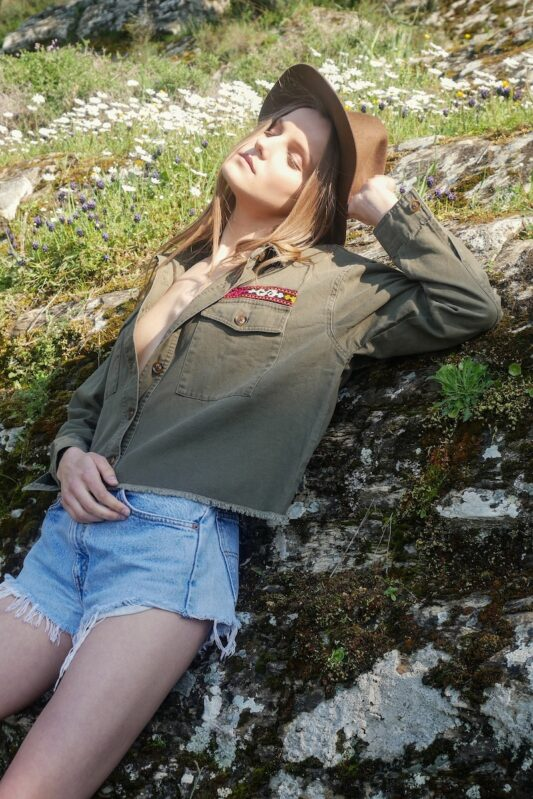 Celia Dragouni The Crop Army Ethnic Jacket