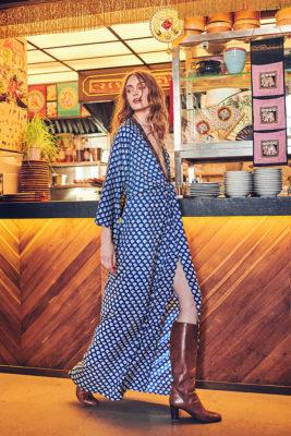 Celia Dragouni Blue Mist Long Dress