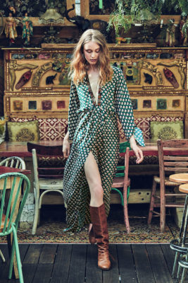 Celia Dragouni Green Mist Long Dress