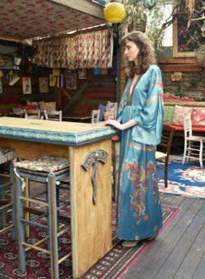 Celia Dragouni Blue Floral Dress