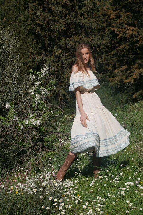 Celia Dragouni Scarlet Skirt