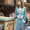 Celia Dragouni Long Sleeve Balinese Maxi Dress