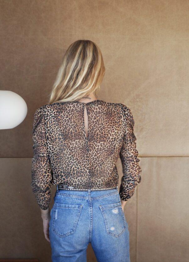 Celia Dragouni Leopard Style Top