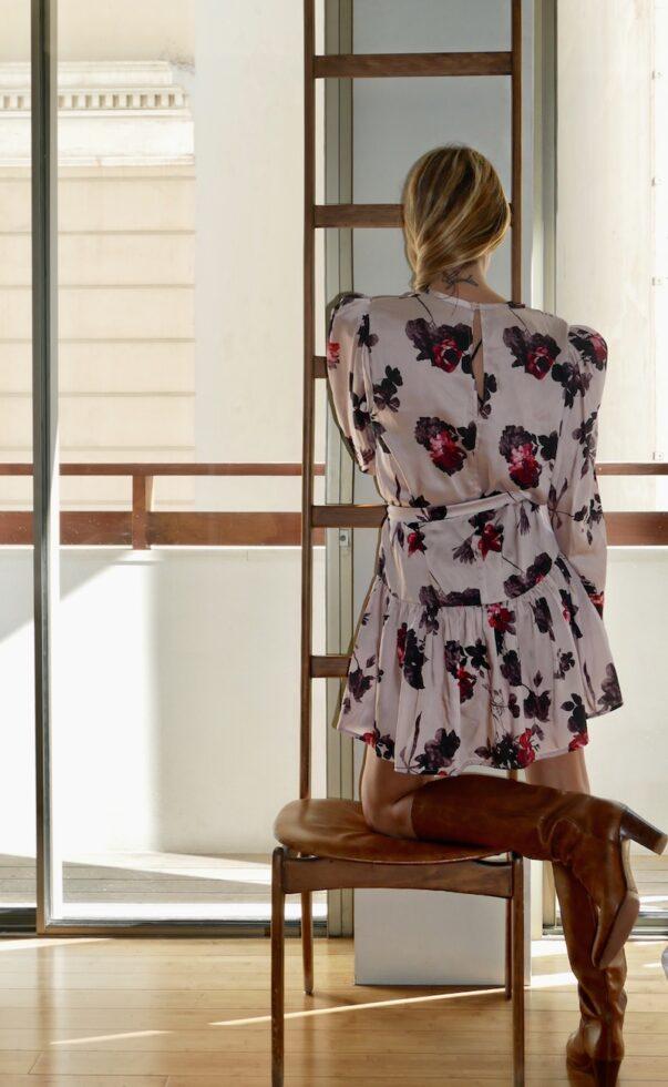 Celia Dragouni Powder Floral Dress