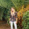 Celia Dragouni Floral Shiny Top