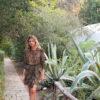 Celia Dragouni Leopard Mini Wrap Dress