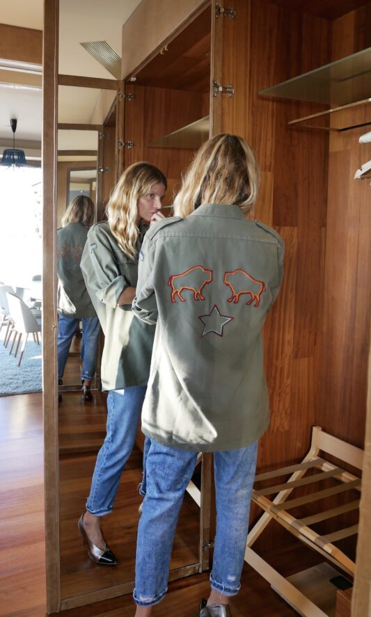 Celia Dragouni The Buffalo Star Army Jacket