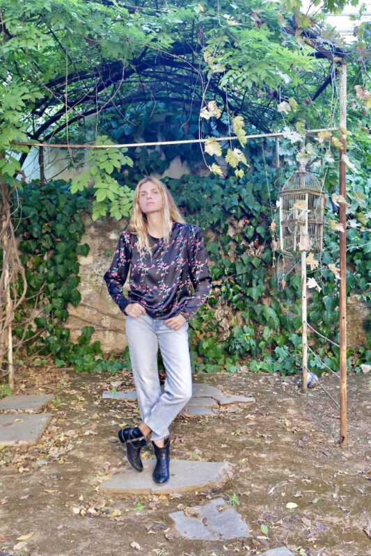 Celia Dragouni The Satin Floral Top