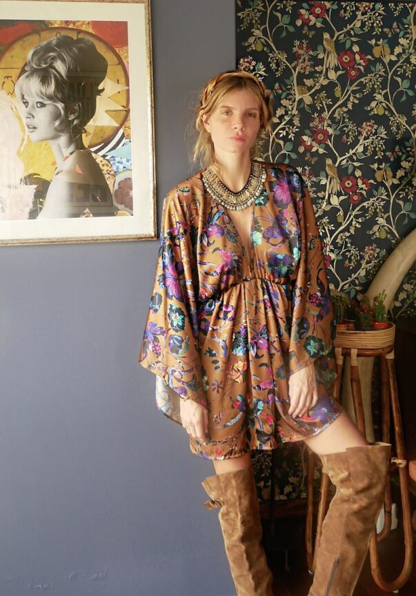 Celia Dragouni Frida Mini Kimono Dress