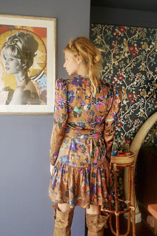 Celia Dragouni Frida Satin Dress