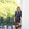 Celia Dragouni The Satin Floral Wrap Dress