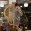 Celia Dragouni Spacy Silver Kimono