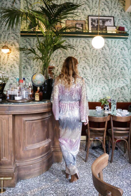 Celia Dragouni The Long Dusty Disco Dress