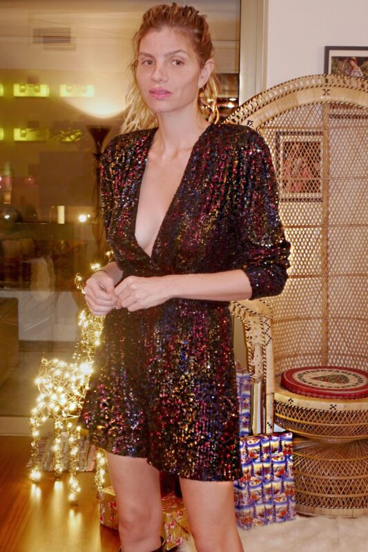 Celia Dragouni Sequin Festive Playsuit