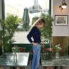 Celia Dragouni The One Shoulder Bleu Velvet