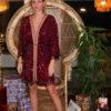 Celia Dragouni Bordeaux Fun Kimono