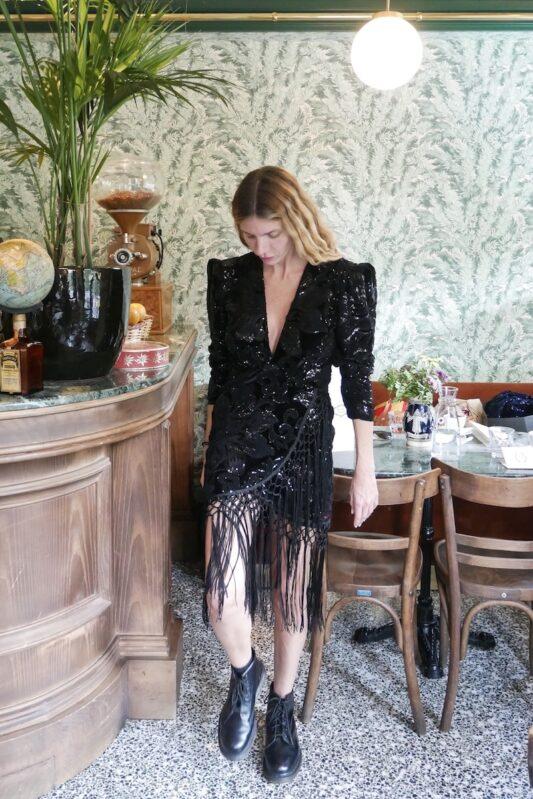 Celia Dragouni The Fringed Black Velvet