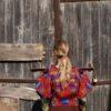 Celia Dragouni Ethnic Colorful Poncho
