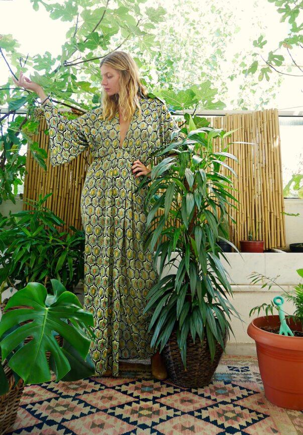 Celia Dragouni Retro Field Kimono Dress