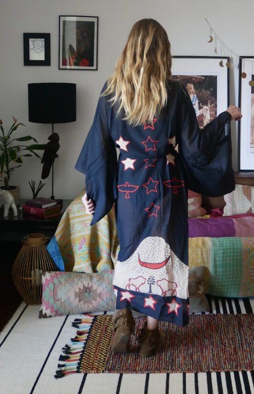 Celia Dragouni Midnight Buffalo Star Kimono