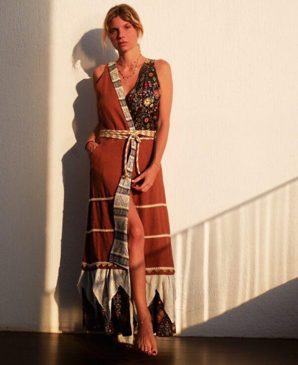 Celia Dragouni The Patchwork Earthy Love Dress