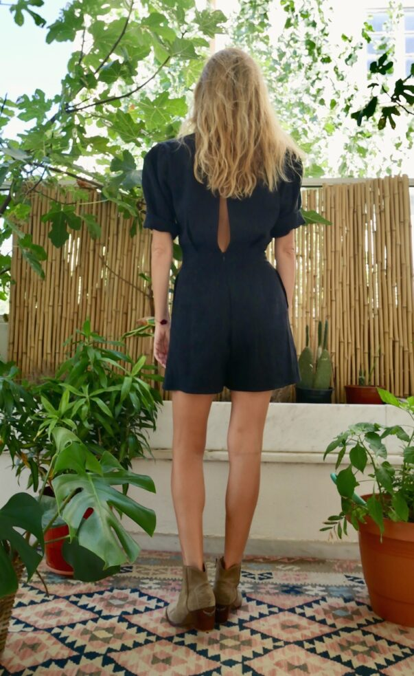 Celia Dragouni Ramie Star Playsuit
